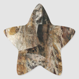 Abstract Texture earthcolored Star Sticker