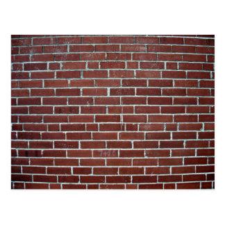 Abstract Texture Of Maroon Brick Wall Postcard