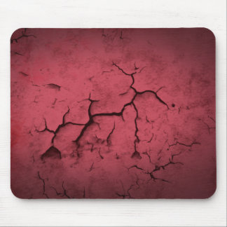 Abstract Texture Red Clay Cracked Wall Mouse Pad