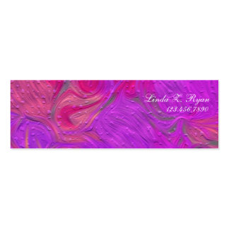 Abstract Textured Design #3 Double-Sided Mini Business Cards (Pack Of 20)