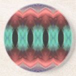 Abstract Textured Form Drink Coaster