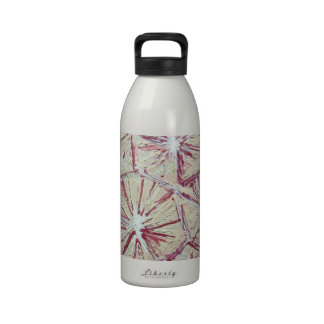 Abstract Textured Morning Glories painting Water Bottles