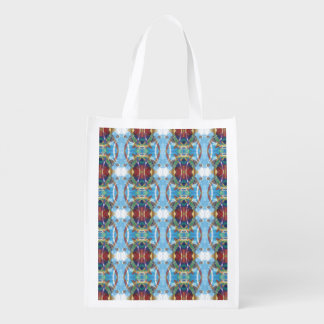 Abstract Textured Pattern Grocery Bag