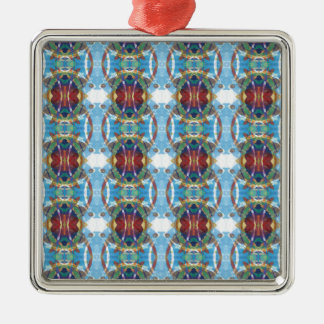 Abstract Textured Pattern Metal Ornament