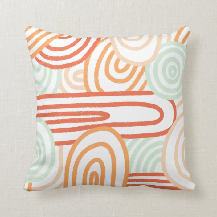 Abstract Textured Pattern Pastels And Desert Throw Pillow Zazzle Com