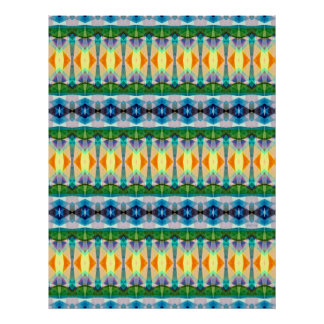 Abstract Textured Pattern Poster