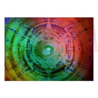 Abstract Textured Vortex Card