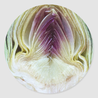 Abstract Textures Artichoke Profile Classic Round Sticker