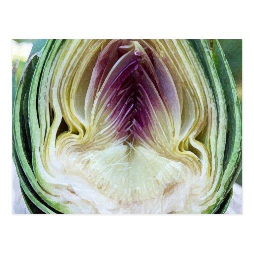 Abstract Textures Artichoke Profile Postcard