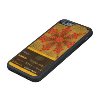 """Abstract """"Thank You"""" Tulip Carved Cherry iPhone 6 Bumper Case"""