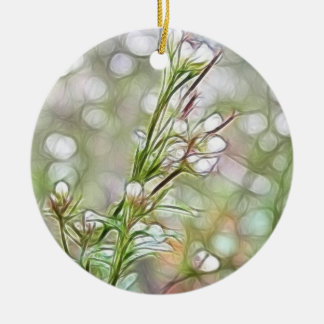 Abstract - The Early Spring Garden Double-Sided Ceramic Round Christmas Ornament