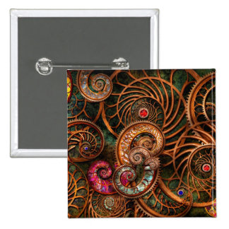 Abstract - The wonders of Sea 2 Inch Square Button