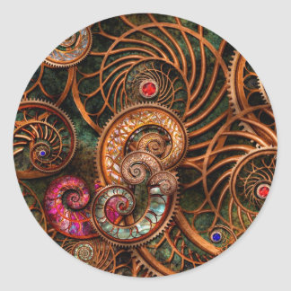 Abstract - The wonders of Sea Classic Round Sticker