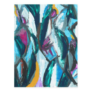 Abstract Three Graces (abstract expressionism) Postcard