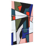 Abstract Three multi shape Triple Wrapped Canvas Stretched Canvas Prints