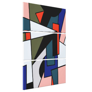 Abstract Three multi shape Triple Wrapped Canvas