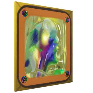 Abstract through a window canvas print