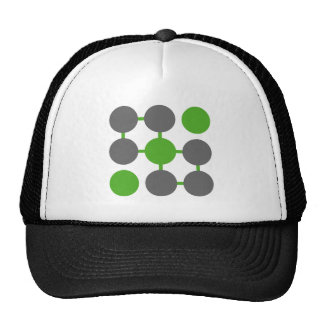 Abstract Tic Tac Toe Baseball Cap Trucker Hat