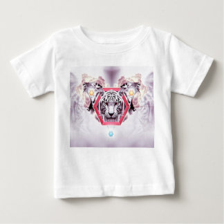 Abstract Tiger in geometric hexagon Baby T-Shirt