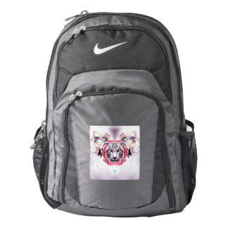 Abstract Tiger in geometric hexagon Nike Backpack