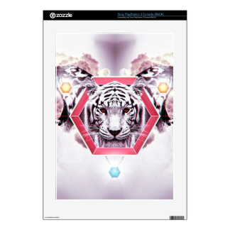 Abstract Tiger in geometric hexagon PS3 Decal