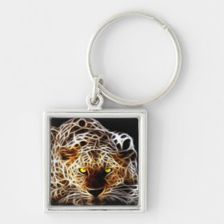 Abstract Tiger Keychain