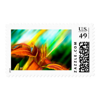 Abstract Tiger Lily Postage Stamps