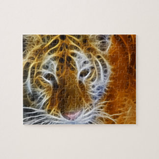 Abstract tiger portrait fractal art jigsaw puzzle