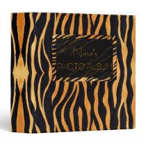 Abstract Tiger Print Binder
