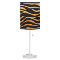 Abstract Tiger Print Table Lamp
