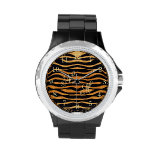 Abstract Tiger Print Watch
