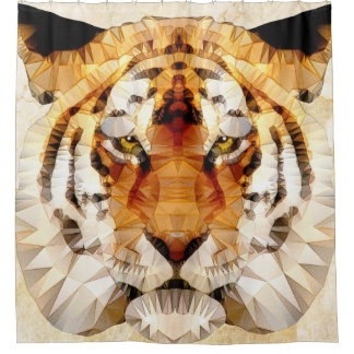 abstract tiger shower curtain