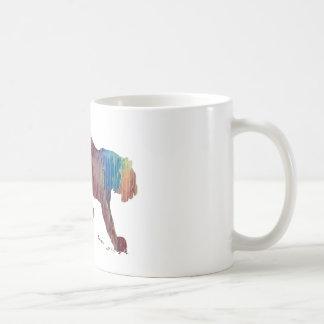 Abstract Tiger silhouette Coffee Mug