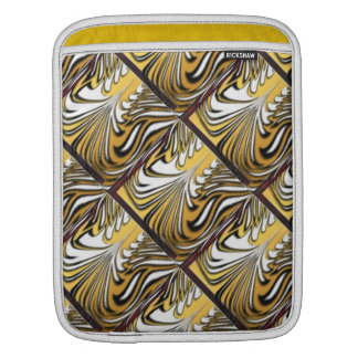 Abstract tiger stripes on gold sleeve for iPads
