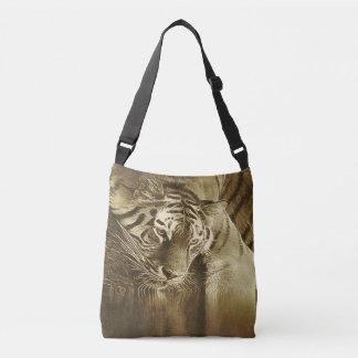 Abstract Tiger Vintage Crossbody Bag