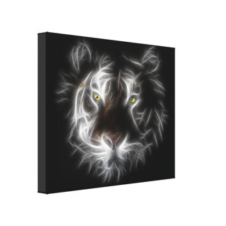Abstract Tiger Wrapped Canvas