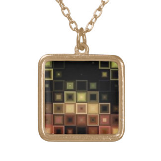 Abstract Tile Pattern - Necklace