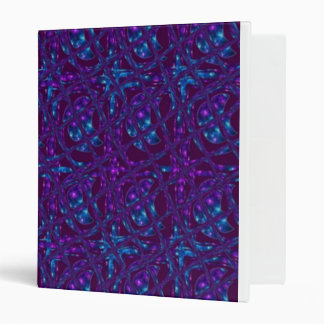 Abstract Tiled Blue and Purple Moons Notebook Bind 3 Ring Binder