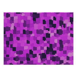 Abstract tiles patterned camouflage pink poster