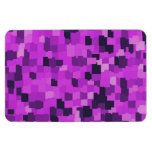 Abstract tiles patterned camouflage pink rectangular magnets