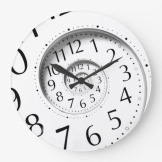 Abstract Time Spiral Infinity Wall Clock