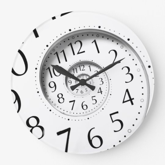 Abstract Time Spiral Infinity Wall Clock Zazzle Com