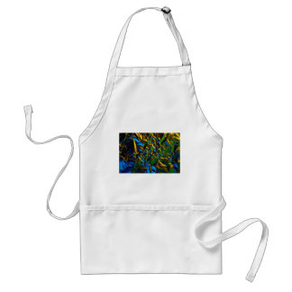 Abstract Tinfoil lit by color lamps Apron