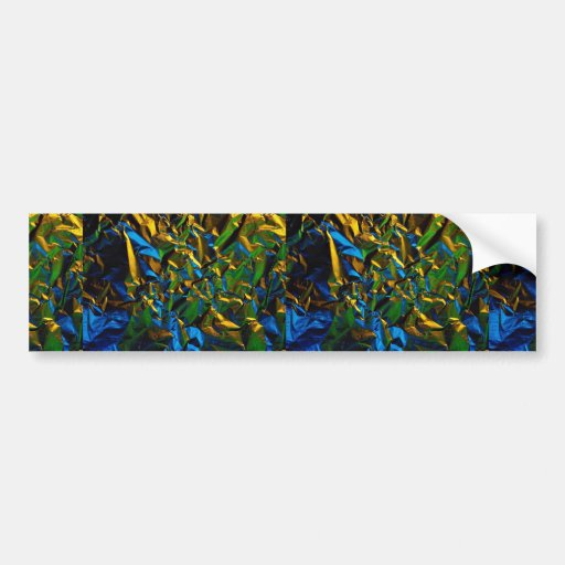 Abstract Tinfoil, lit by color lamps Car Bumper Sticker