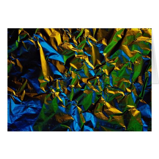 Abstract Tinfoil, lit by color lamps Card