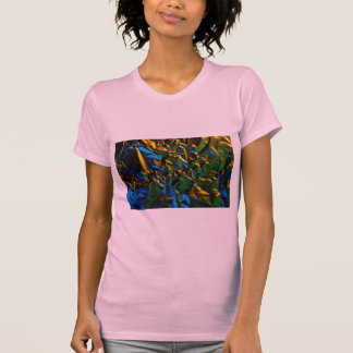 Abstract Tinfoil, lit by color lamps Shirts