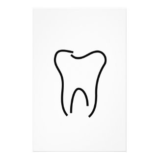 Abstract tooth graphic custom stationery