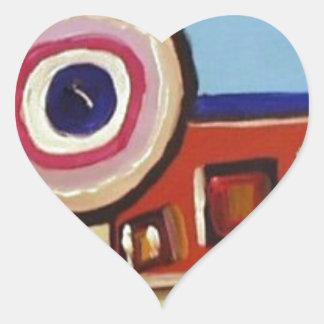 Abstract Train Heart Sticker