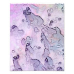 Abstract Traverlers - watercolor in lavender tones Photo Art