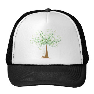 Abstract Tree and Butterflies Trucker Hat